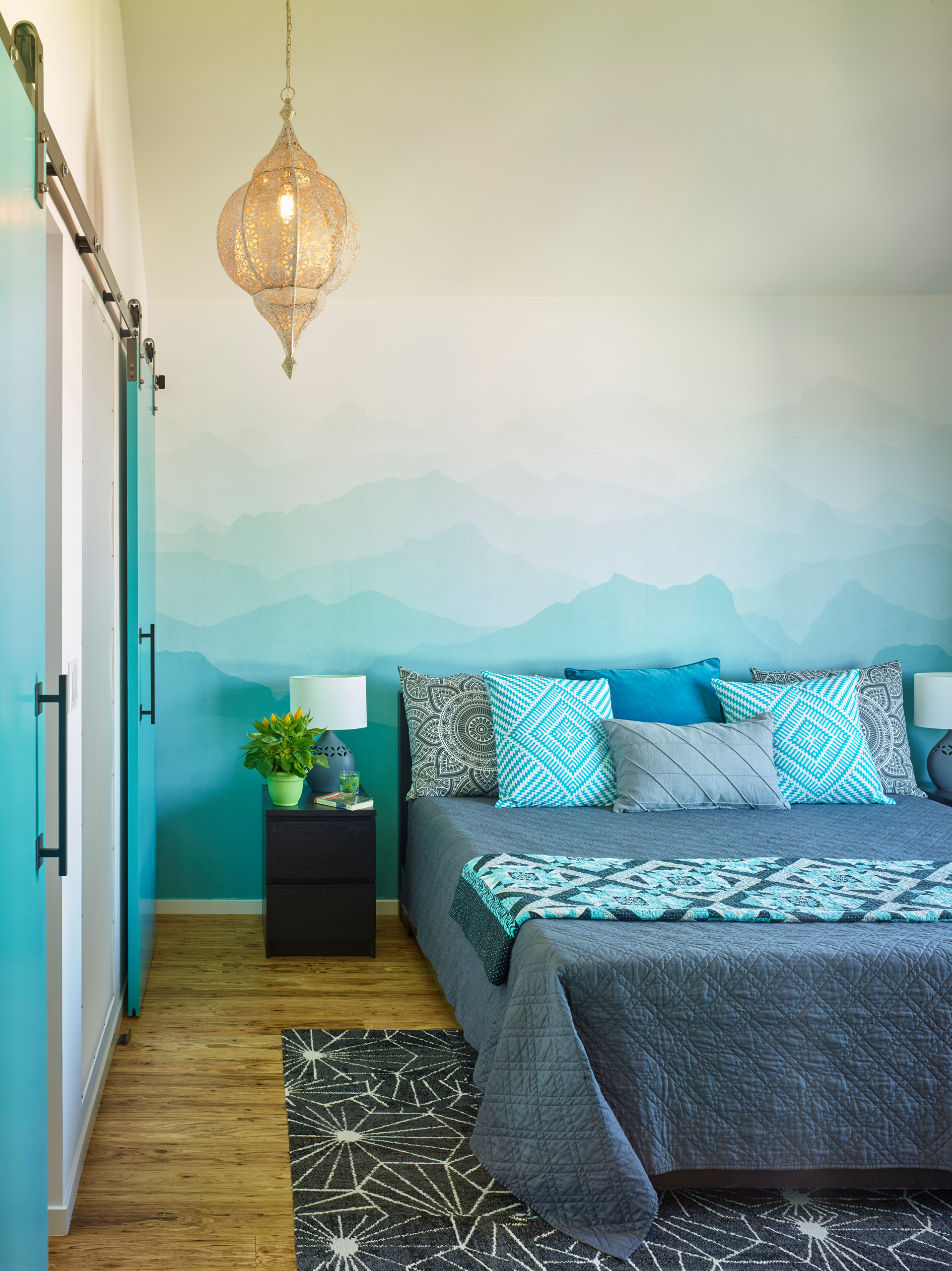 9 Beautiful Turquoise Bedroom Pictures & Ideas - January, 9