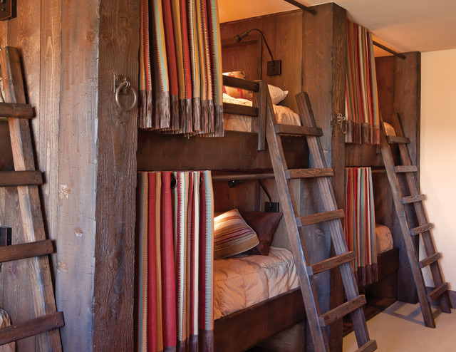 cool attic bedroom designs - Chimney Rock Cabin Rustic Bedroom denver by Terra