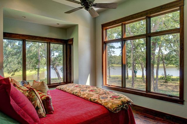 Ranch Style by the Lake rustic-bedroom