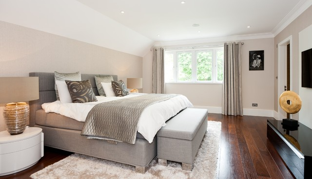 Raynes Park contemporary-bedroom