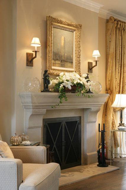 fireplace lighting. traditional bedroom by reaume construction u0026 design fireplace lighting