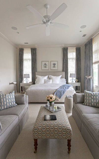Recently Completed Home on Kiawah Island, SC transitional-bedroom