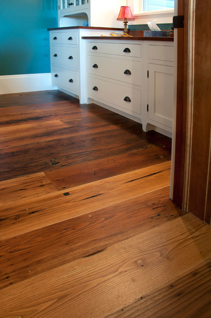 Reclaimed Antique Wormy Chestnut Hardwood Flooring Traditional