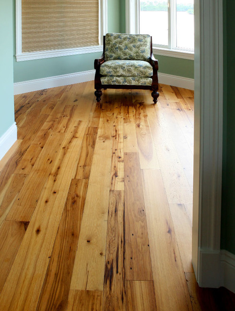 Reclaimed hickory hardwood flooring traditional for Traditional flooring