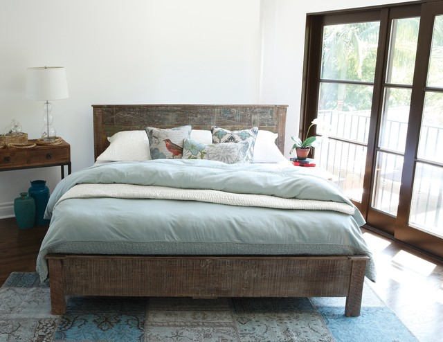 Reclaimed Wood Modern Platform Bedroom - Rustic - Bedroom ...