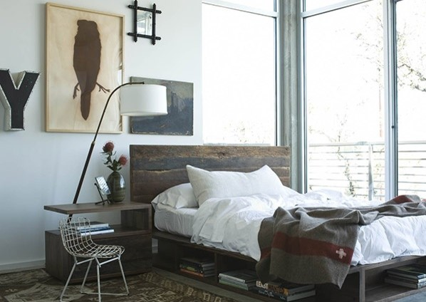 Reclaimed Wood Platform Beds - contemporary - bedroom - chicago