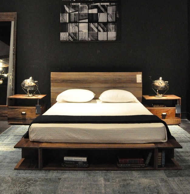 Reclaimed Wood Platform Beds Contemporary Bedroom