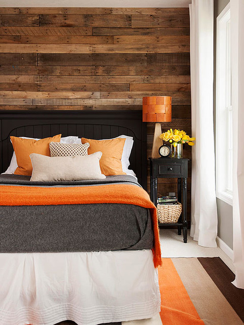 Reclaimed Wood Wall Paneling Rustic Bedroom Other by