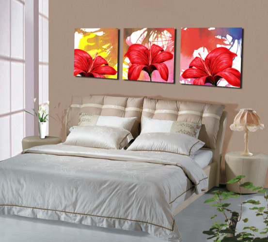 Red Shoe Flower Canvas Prints