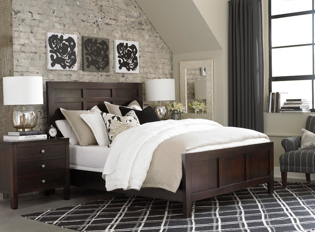 Redin Park Panel Bed by Bassett Furniture - Contemporary - Bedroom ...