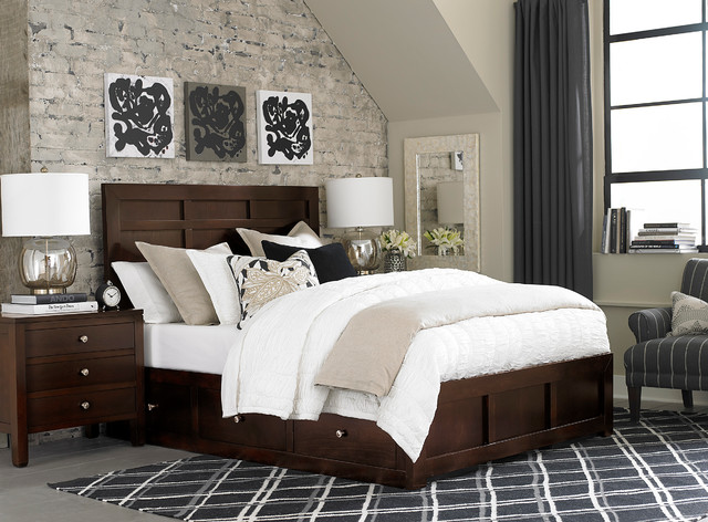 Redin Park Storage Bed by Bassett Furniture Contemporary