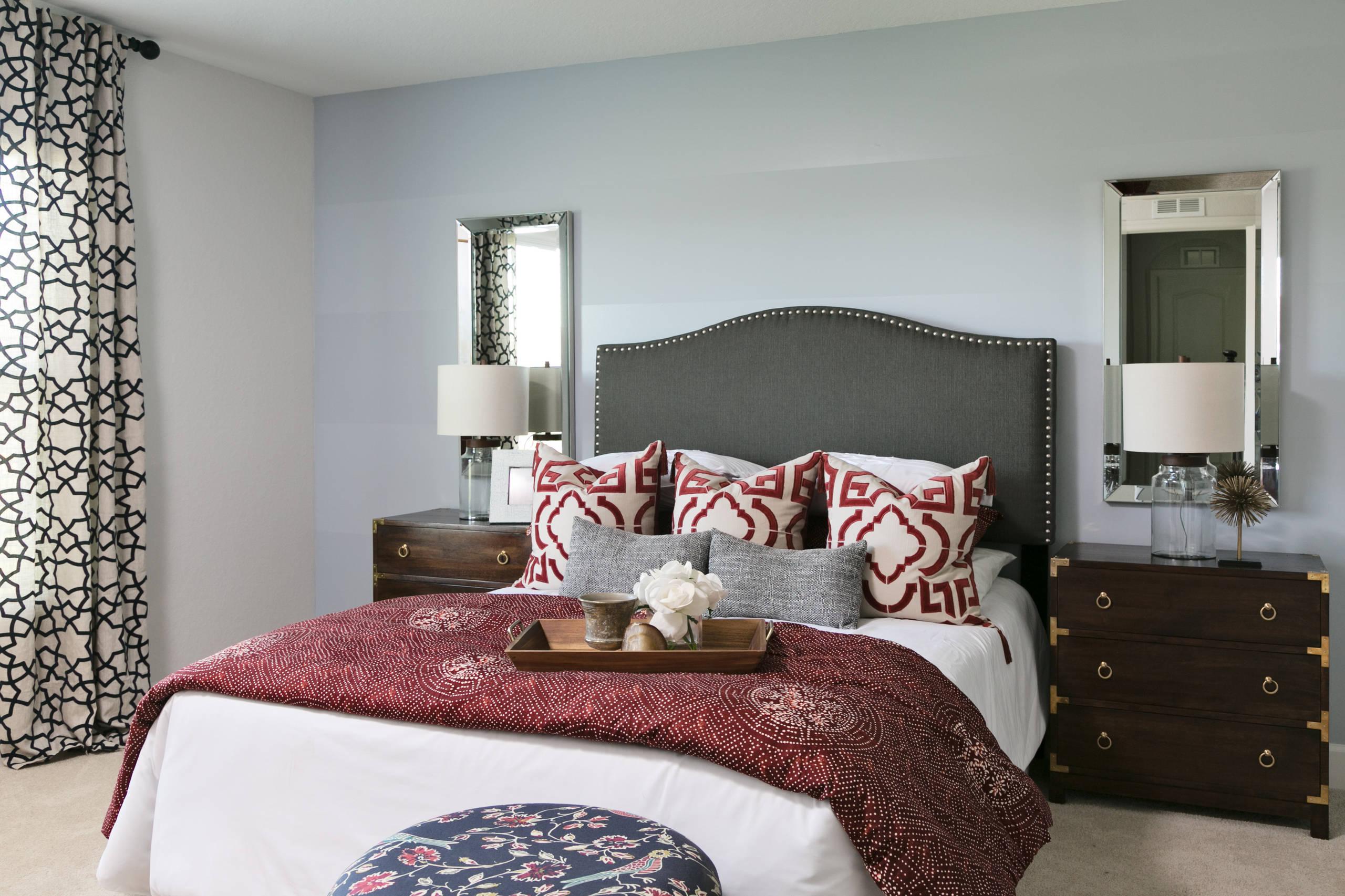 Burgundy Bedroom Ideas And Photos Houzz