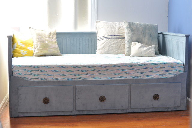 eclectic bedroom refinished IKEA daybed