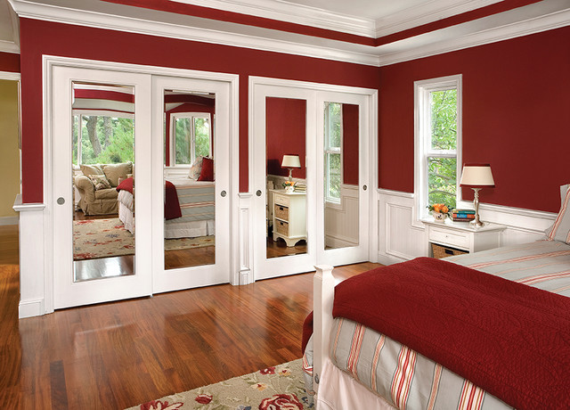 bedroom closet doors. Reflections Mirror By Pass Closet Doors traditional bedroom  Traditional Bedroom