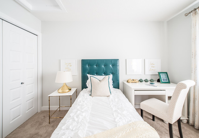 Regency at windermere show home modern bedroom for Modern home decor edmonton