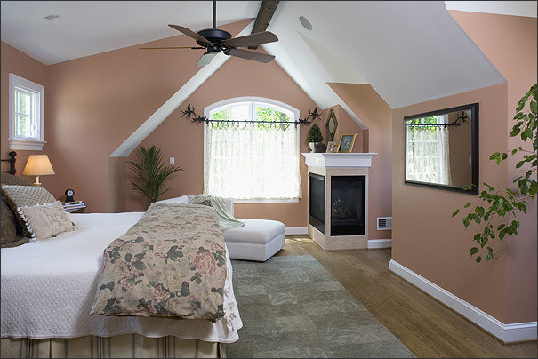 Rejuvinated cape cod in mclean traditional bedroom for Cape cod attic bedroom ideas