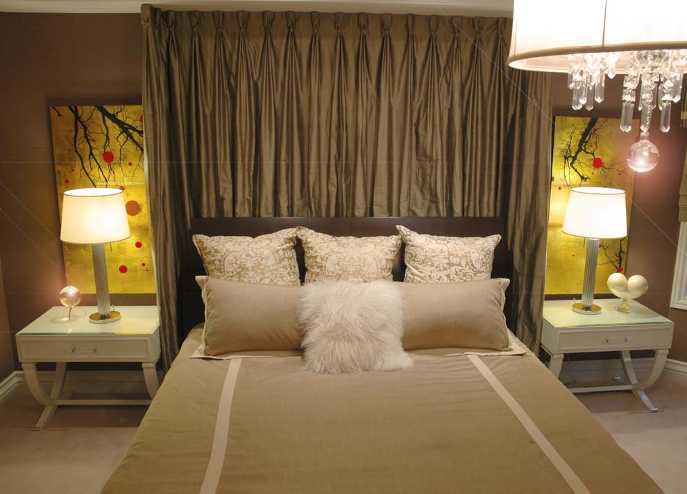 Example of an eclectic bedroom design in Toronto