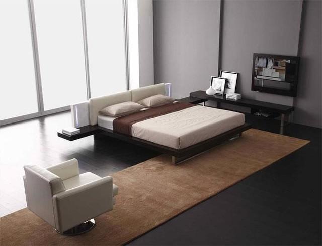 Reno Tech   Contemporary Platform Bed Contemporary Bedroom