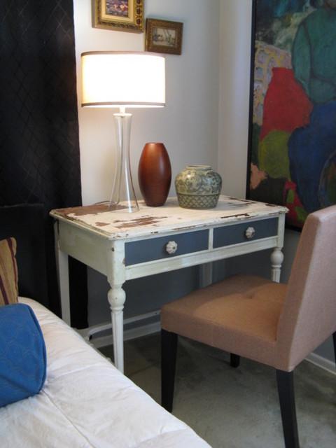 Repurposed Vintage Desk Eclectic Bedroom Los Angeles