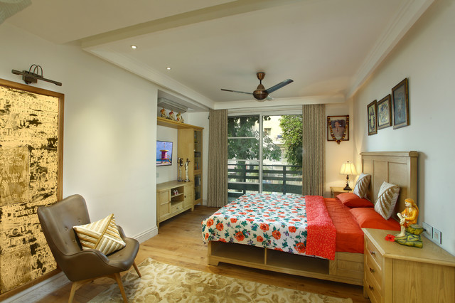 Residence for anand 39 s new delhi contemporary bedroom for Bedroom designs delhi
