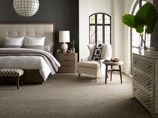 Etonnant Minimalist Carpeted Bedroom Photo In Atlanta With Gray Walls