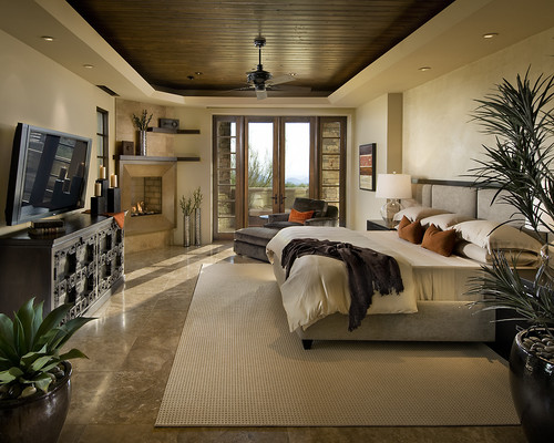 Residential contemporary bedroom