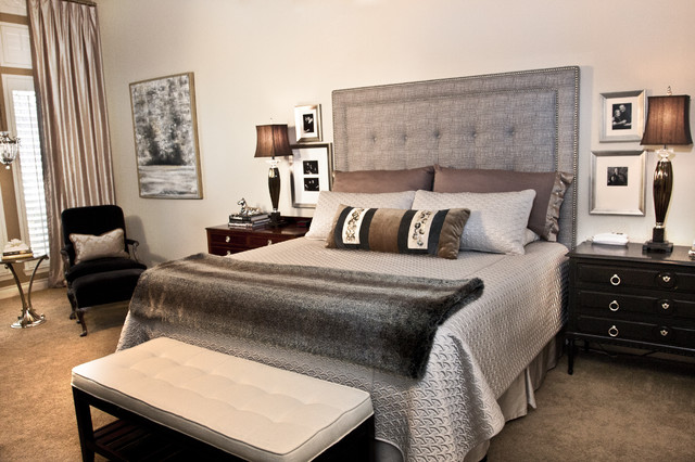 Superieur Example Of A Mid Sized Minimalist Master Carpeted And Beige Floor Bedroom  Design In Minneapolis