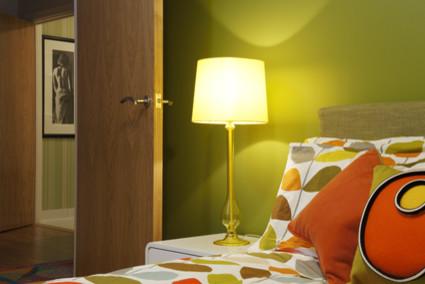 Retro Green And Orange Bedroom Modern
