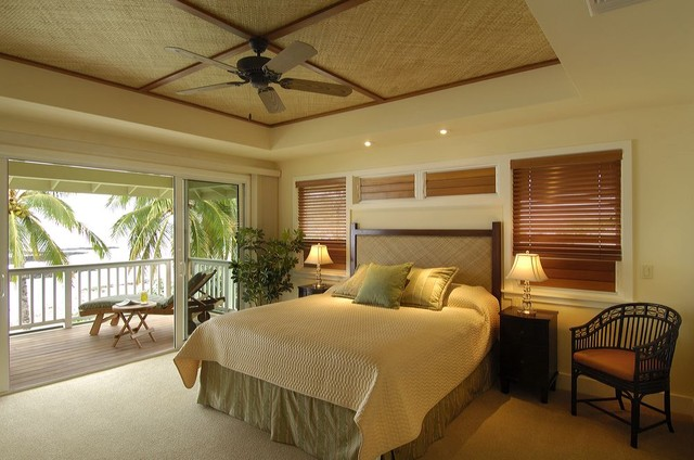 Retro hawaii beach cottage tropical bedroom hawaii for Designing interiors inc