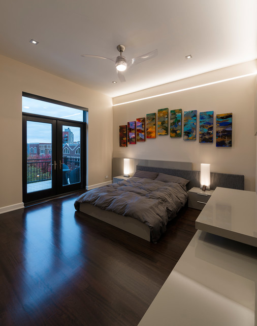 Reveal Plaster In Linear LED System By Pure Lighting Contemporary Bedroom