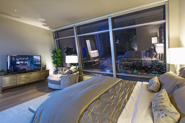 Ritz Carlton Residences At La Livecontemporary Bedroom Los Angeles