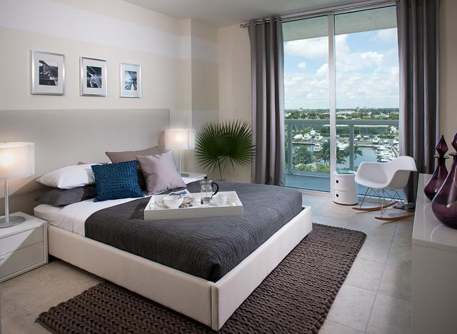 River Oaks Marina + Tower Model Unit modern-bedroom