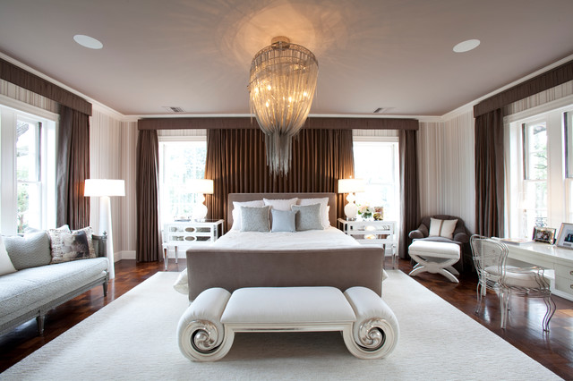 River Oaks Residence Transitional Bedroom Houston by Laura U