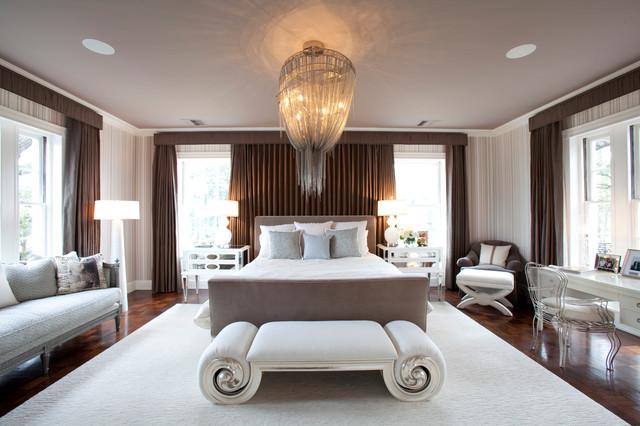 River Oaks Residence transitional-bedroom