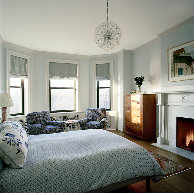 Riverside Drive NYC transitional-bedroom