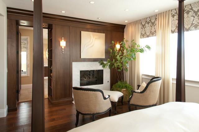 Robeson Design Master Bedroom Fireplace Transitional Bedroom