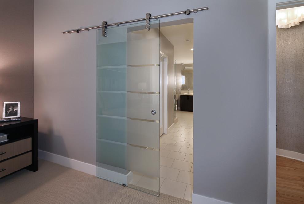 Bedroom - contemporary bedroom idea in Orange County