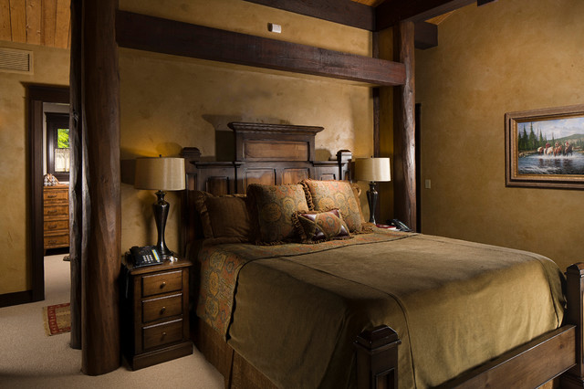 Rocky Mountain Log Homes -Timber Frames rustic-bedroom