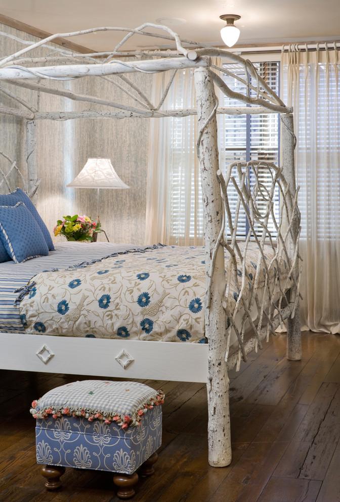 Inspiration for an eclectic dark wood floor bedroom remodel in Denver