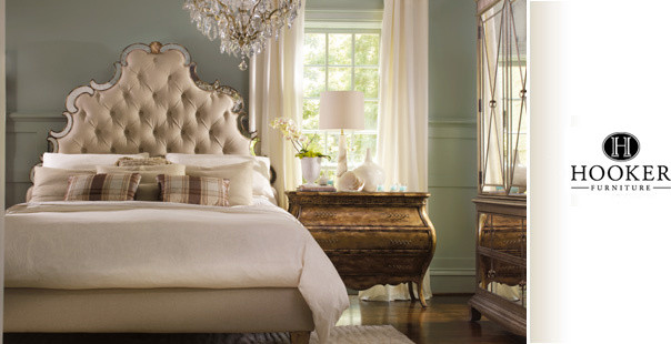 Romance in waking eclectic-bedroom