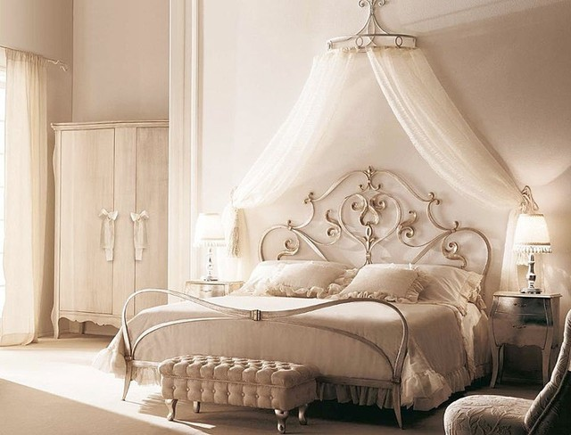 romantic canopy bed - traditional - bedroom