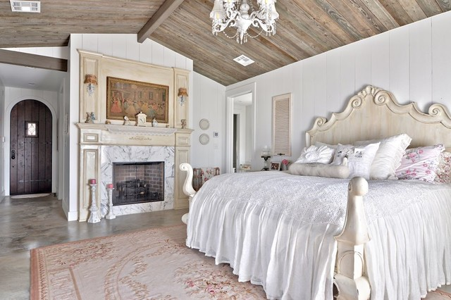 Romantic hill country dream shabby chic style bedroom austin