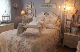 romantic home shabby-chic-style-bedroom