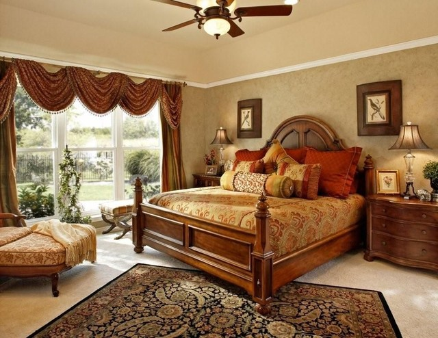 Romantic Master Bedroom - American Traditional - Bedroom - Dallas - By Decorating Den Interiors - Pressley & Associates