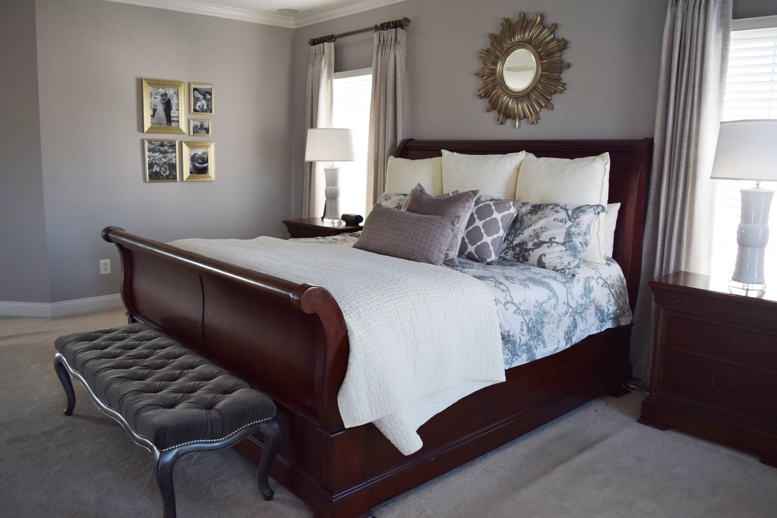 75 Beautiful Gray Bedroom With Purple Walls Pictures Ideas November 2020 Houzz