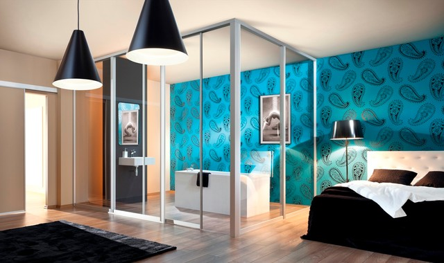 room dividers & office partitions - contemporary - bedroom