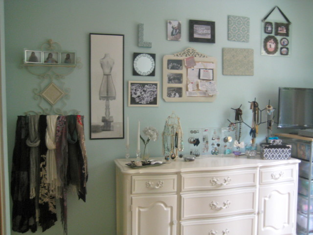 Room makeover eclectic-bedroom