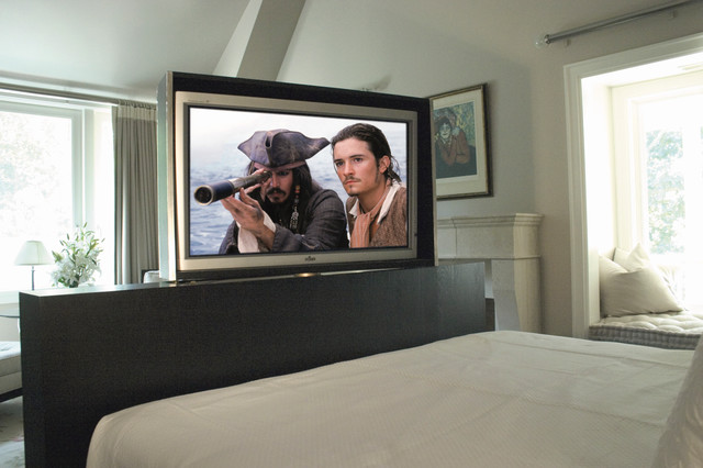 Rotating Hidden Tv Traditional Bedroom