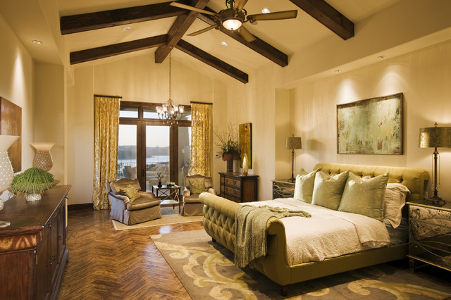 Rough hollow master suite mediterranean bedroom for Master bedroom images