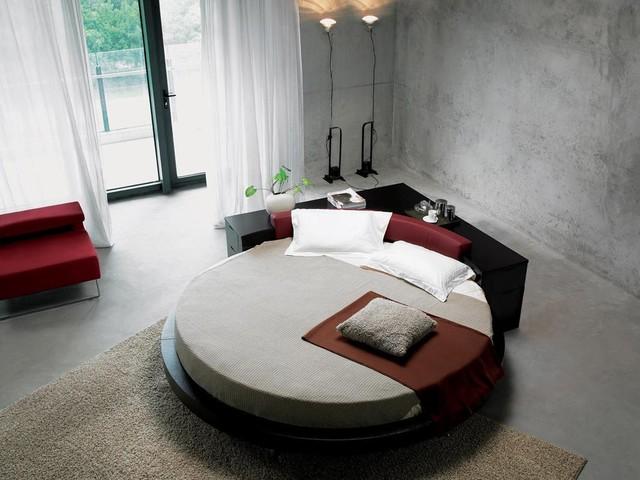 Round Bed with Corner Console - Contemporaneo - Camera da Letto ...